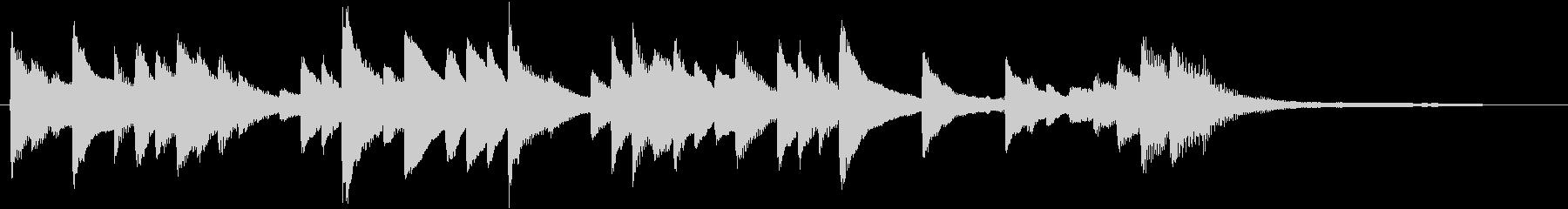 爽やかで明るいピアノのジングルの未再生の波形