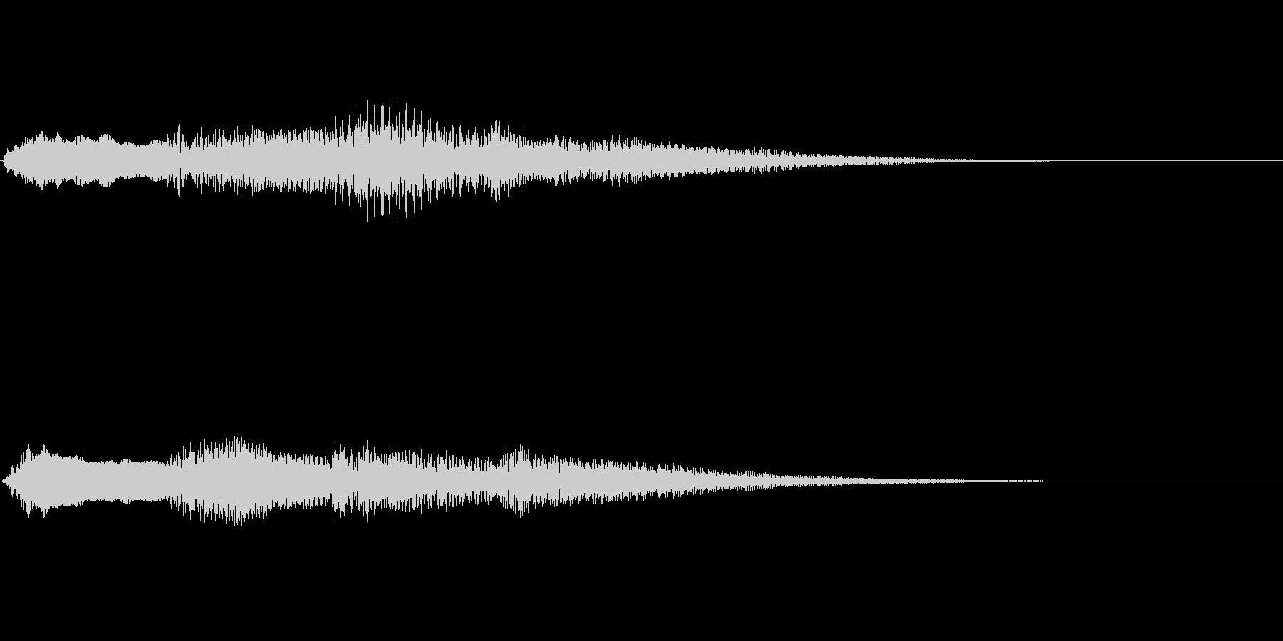 ピンポンパンポン ピアノ 早い下降の未再生の波形