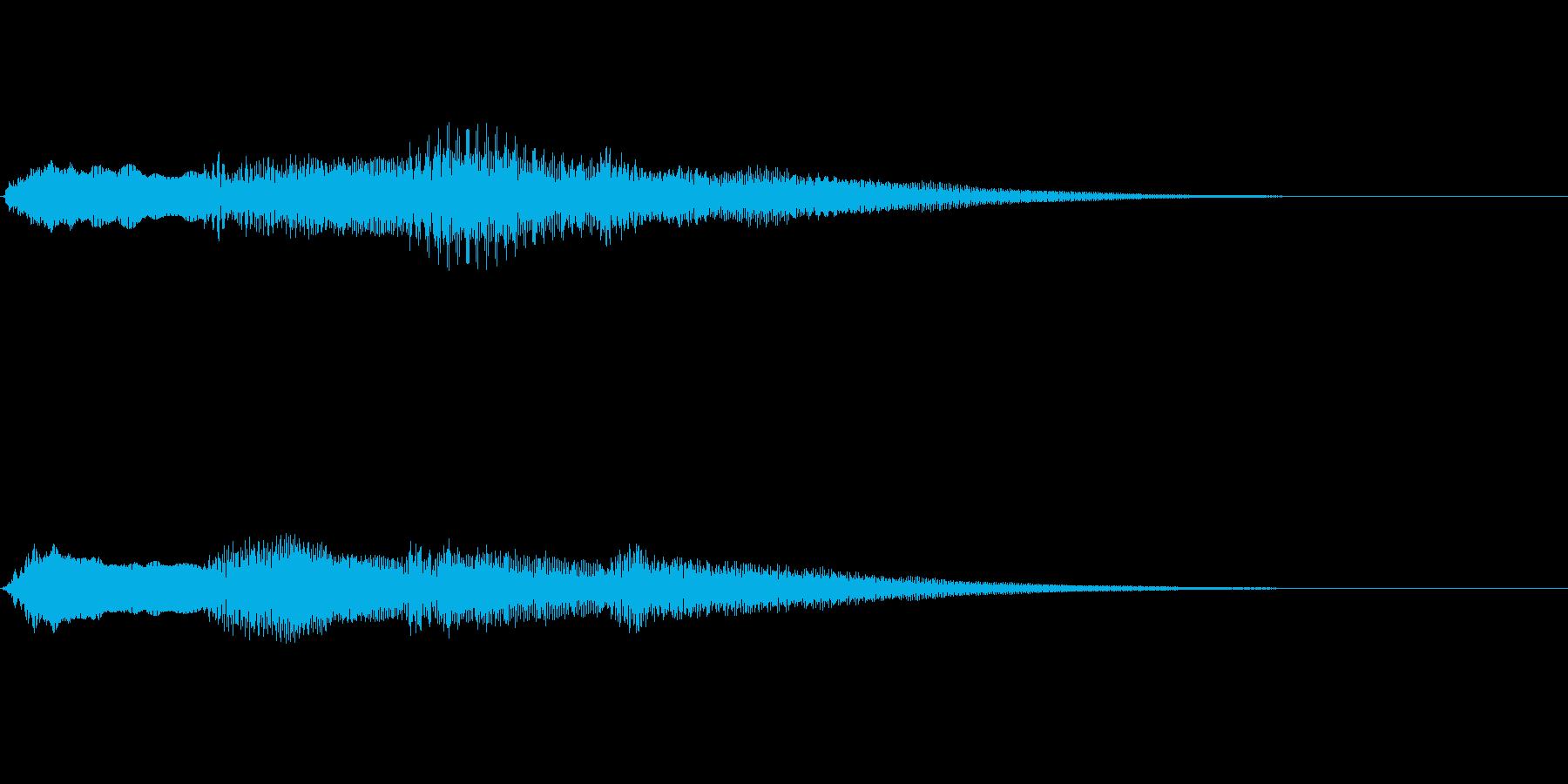 ピンポンパンポン ピアノ 早い下降の再生済みの波形