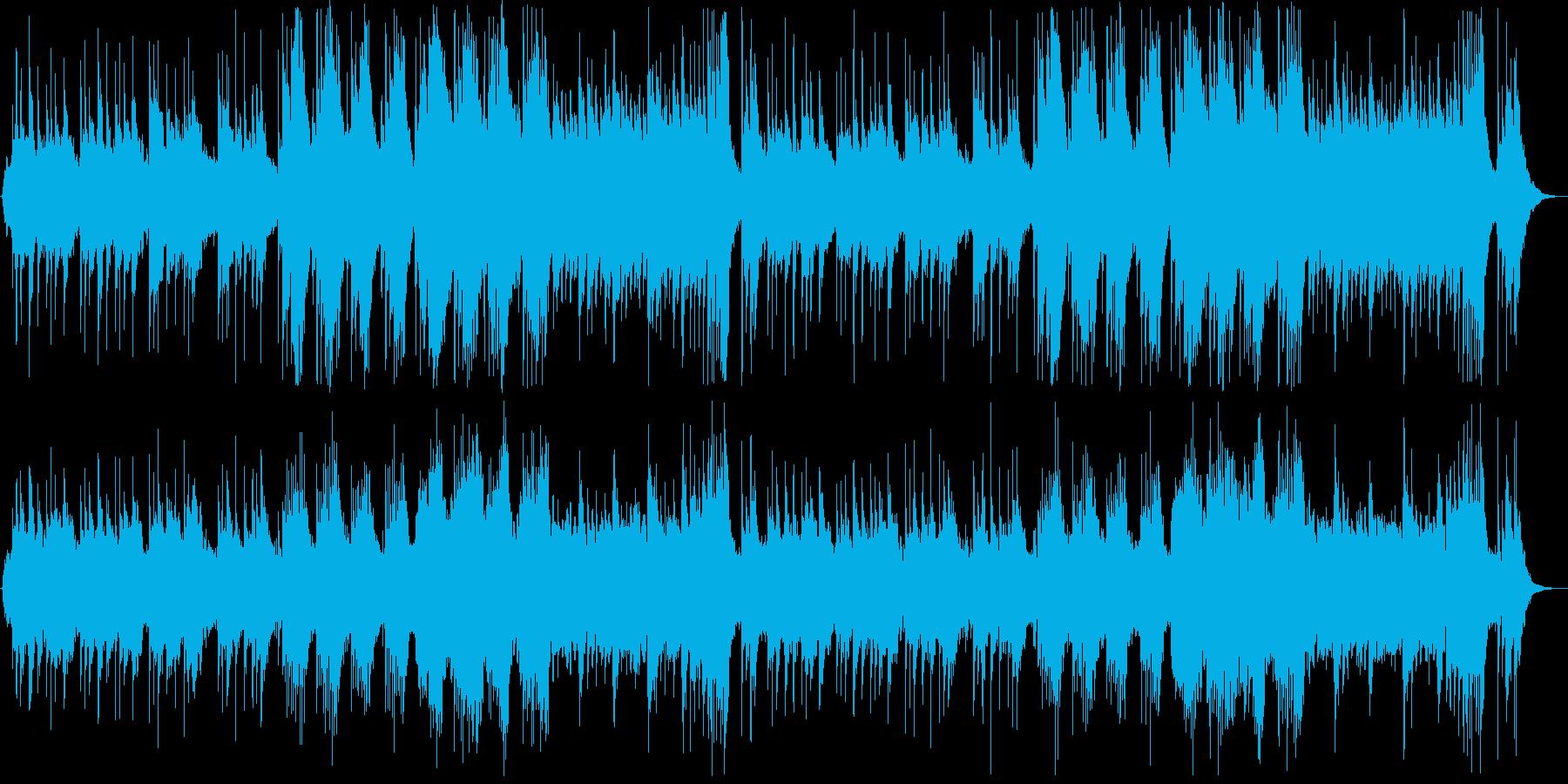 和風の落ち着いたヒーリングの再生済みの波形