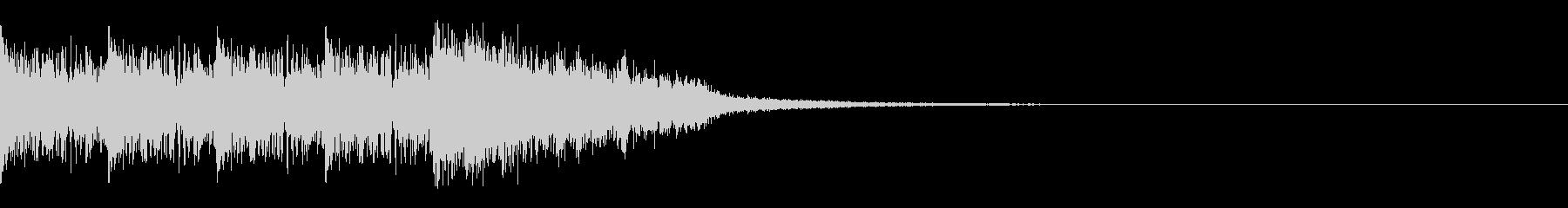 タイムアップ 約3秒 時計と効果音の未再生の波形