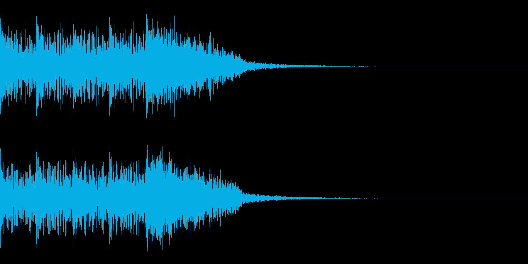 タイムアップ 約3秒 時計と効果音の再生済みの波形