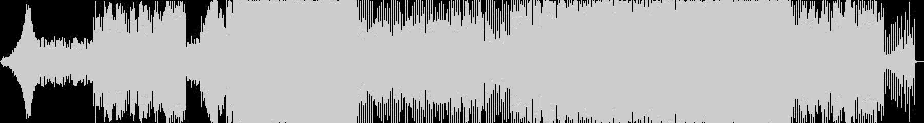 シンセを使った盛り上がりのあるオープニンの未再生の波形