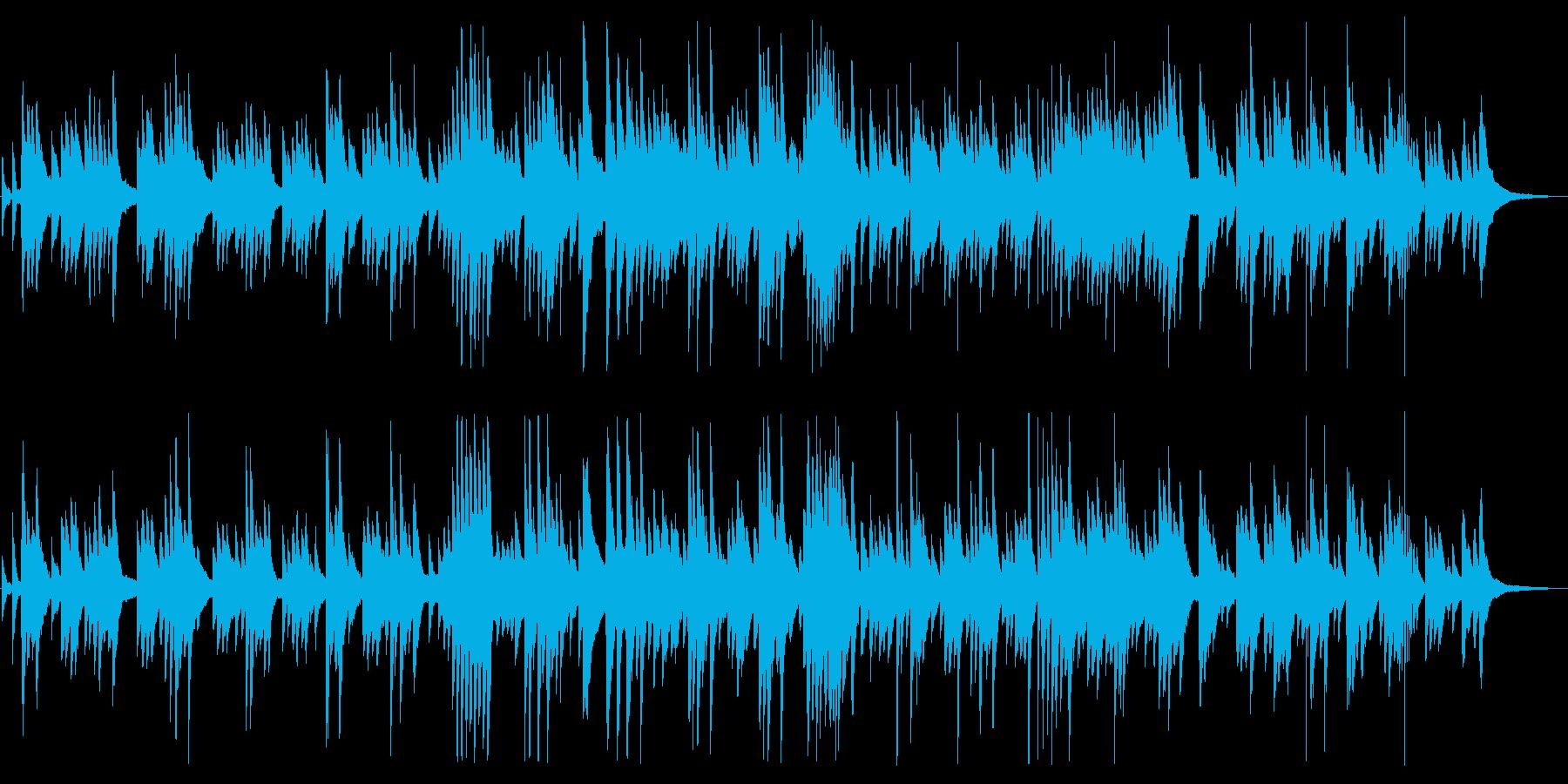 悲しげでしっとりしたピアノBGMの再生済みの波形