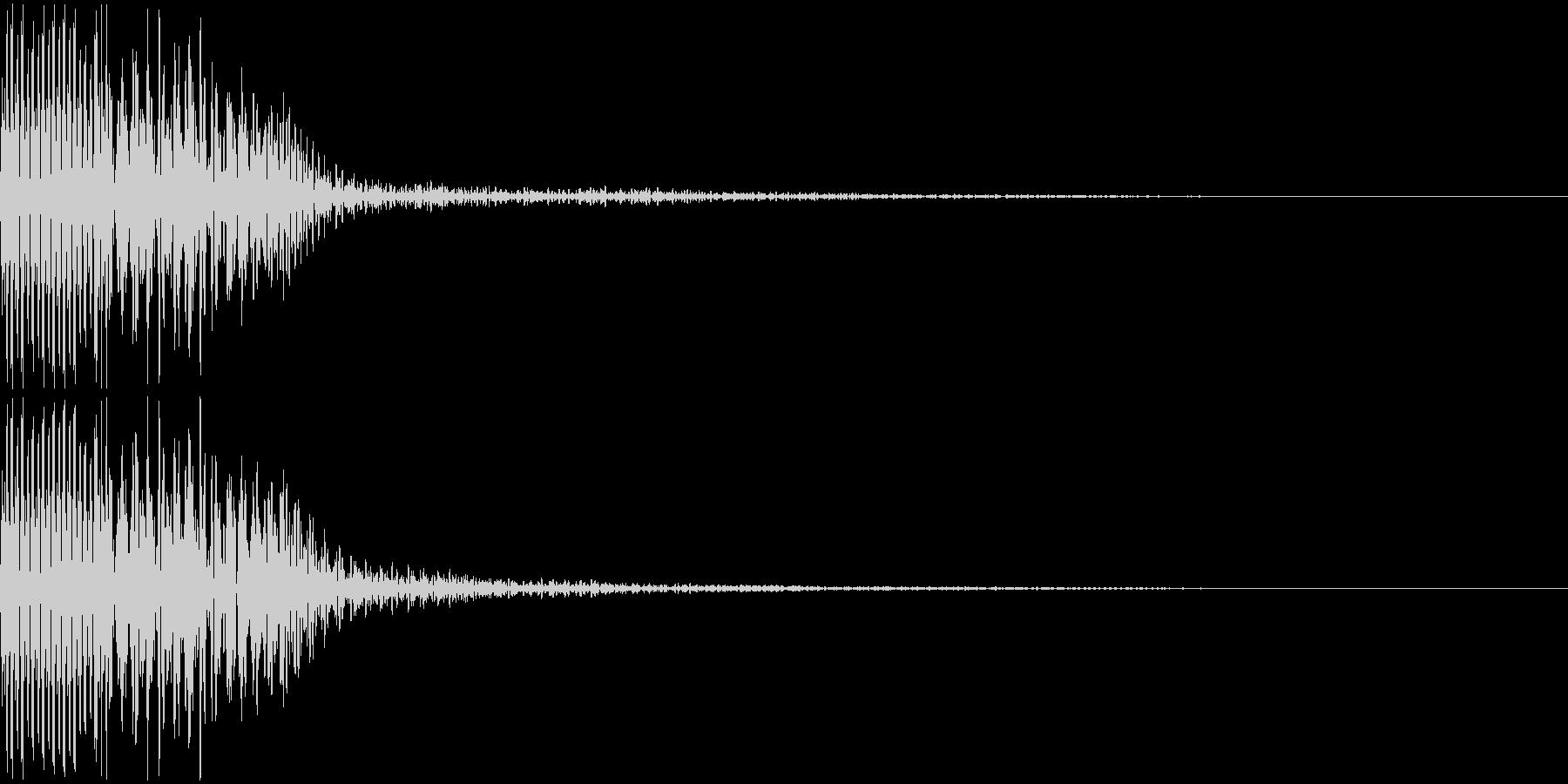 キャンセル、失敗音の未再生の波形