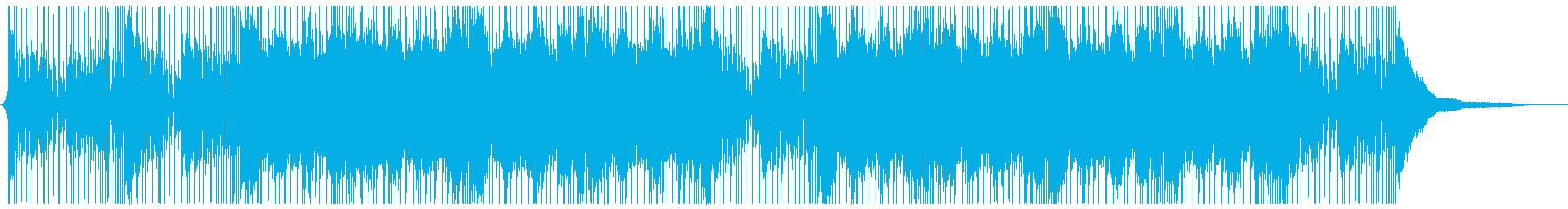 ロックテイストなシネマティクアンビエントの再生済みの波形