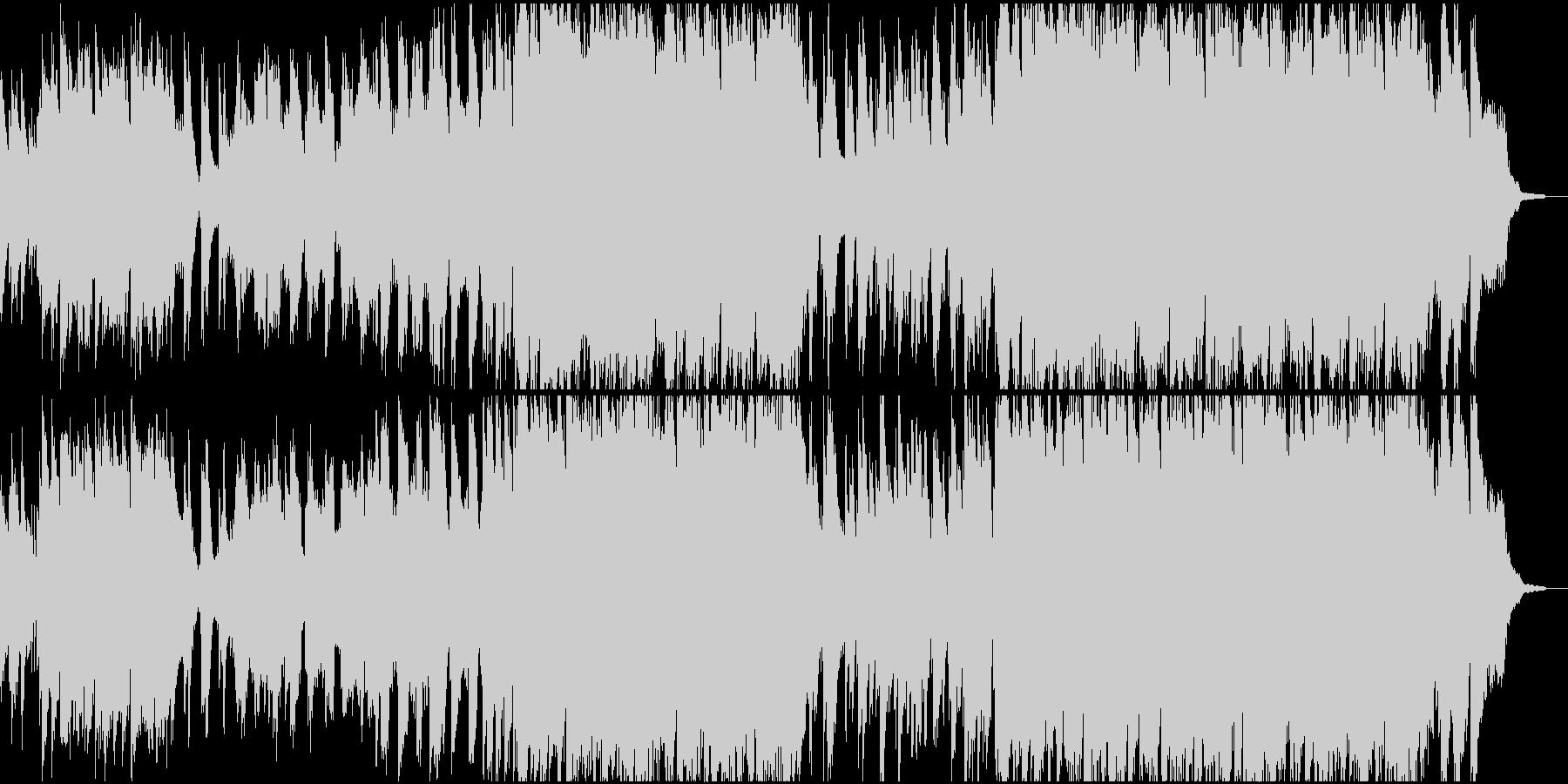 ケーナ生演奏 儚い花のイメージの笛の音楽の未再生の波形