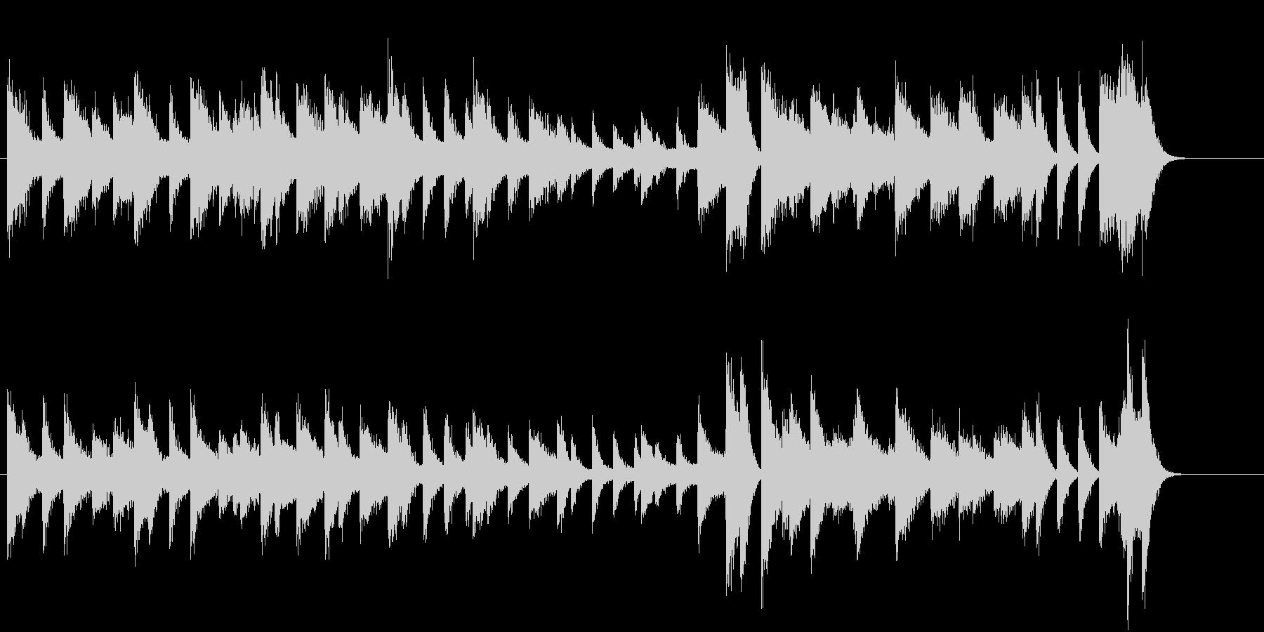 きよしこのよるモチーフのピアノジングルCの未再生の波形