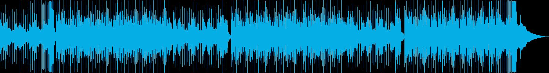 夏、海、夕暮れ、クールなトロピカルハウスの再生済みの波形
