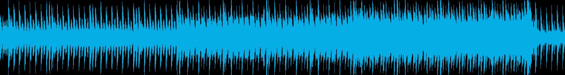 ピアノがキラキラしたJPOP風曲ループcの再生済みの波形