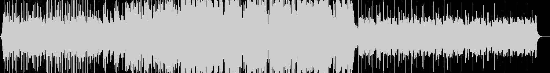 激しいエレクトロニカ/ブレイクビーツの未再生の波形
