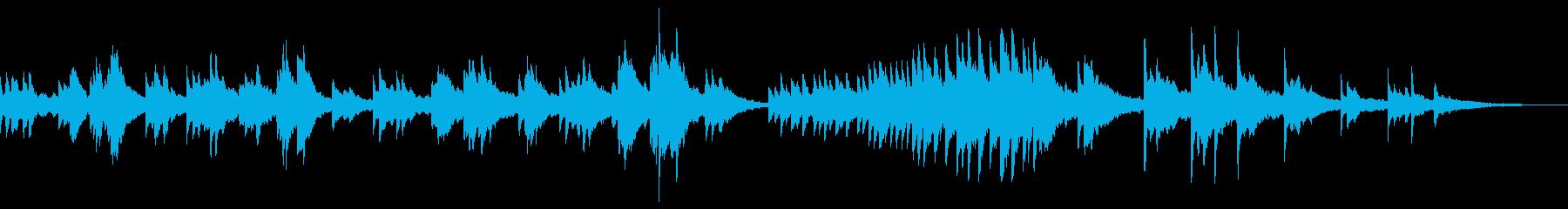 ゆったりして切ない雰囲気のピアノソロの再生済みの波形