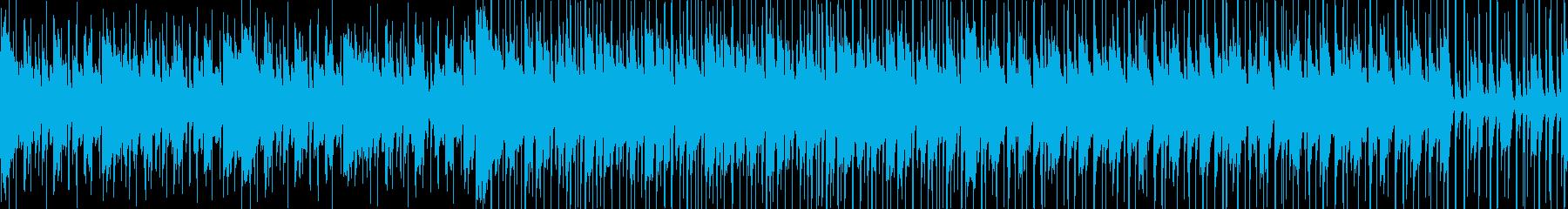 軽快で哀愁漂うラテン系音楽の再生済みの波形
