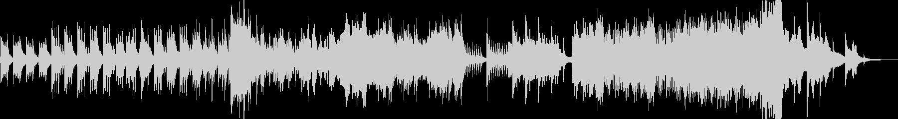 ハープとピアノによる壮大で幻想的なBGMの未再生の波形