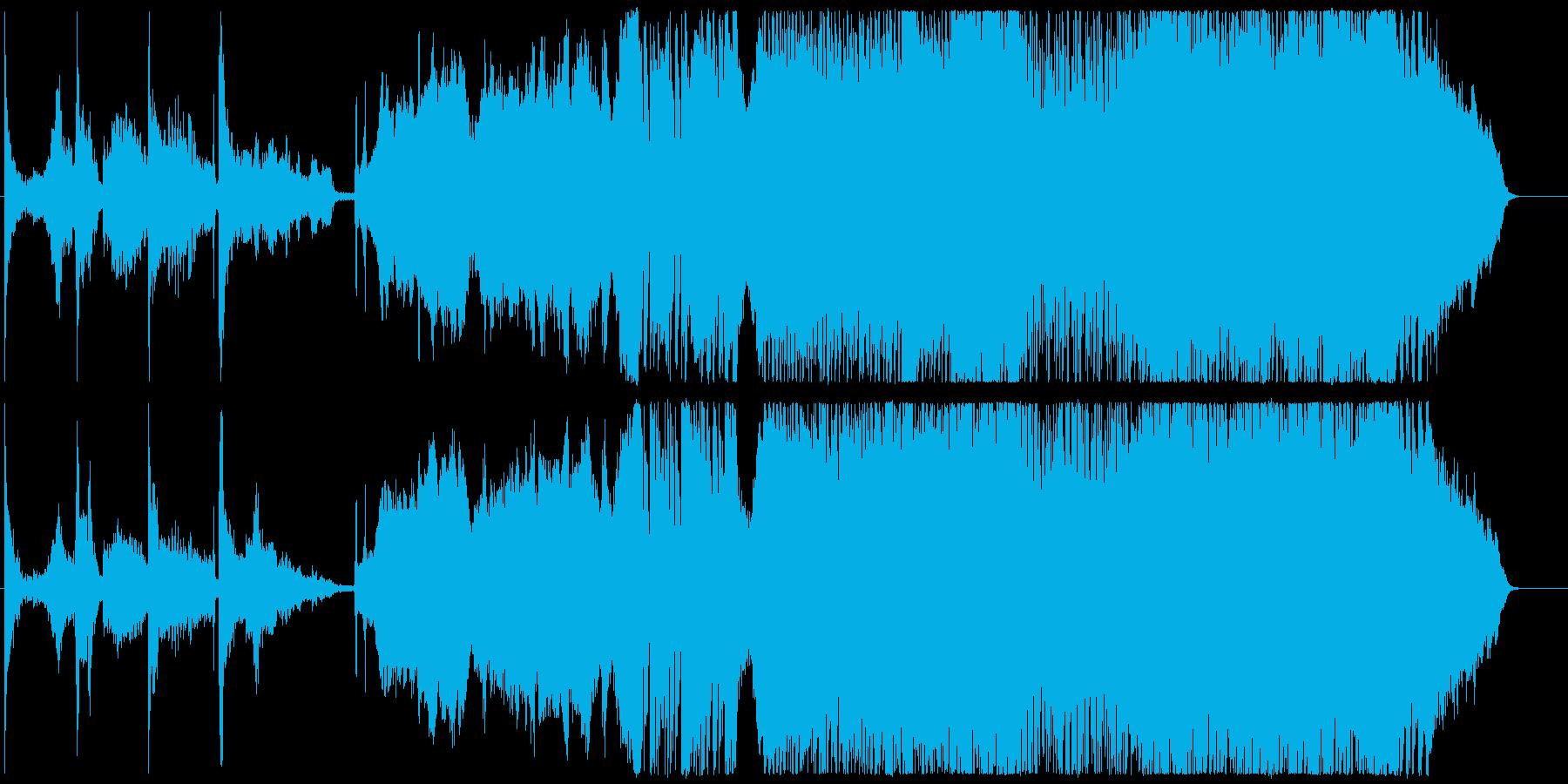 サムライの一騎打ちをイメージした和風曲の再生済みの波形