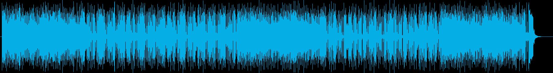 清涼感ある爽やかなスローテンポの曲の再生済みの波形