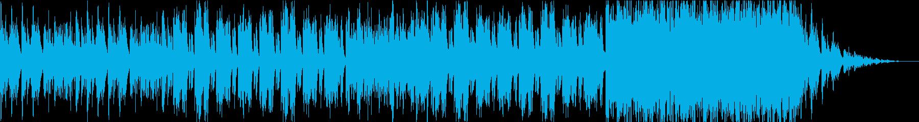 ハープの穏やかで物悲しい楽曲の再生済みの波形