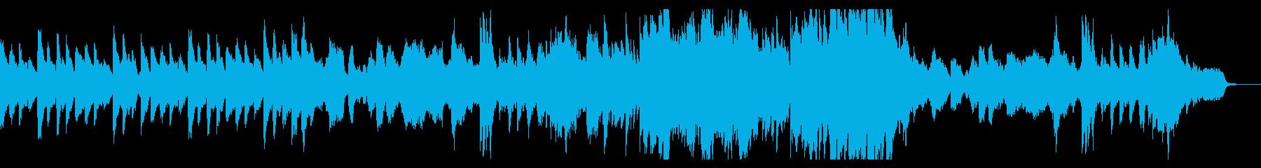 ヴァイオリンとピアノの静かなメロディの再生済みの波形
