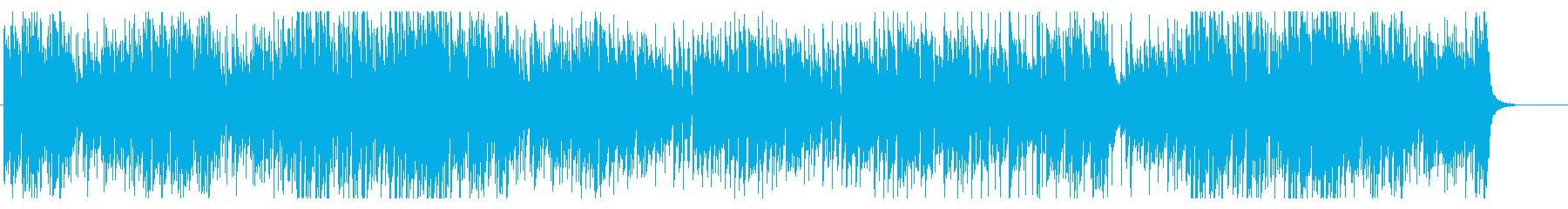 ピアノとオルガンでハイテンポなラグタイムの再生済みの波形