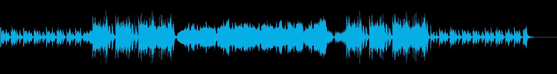 木琴と弦とピアノによる軽やかで楽しげな曲の再生済みの波形