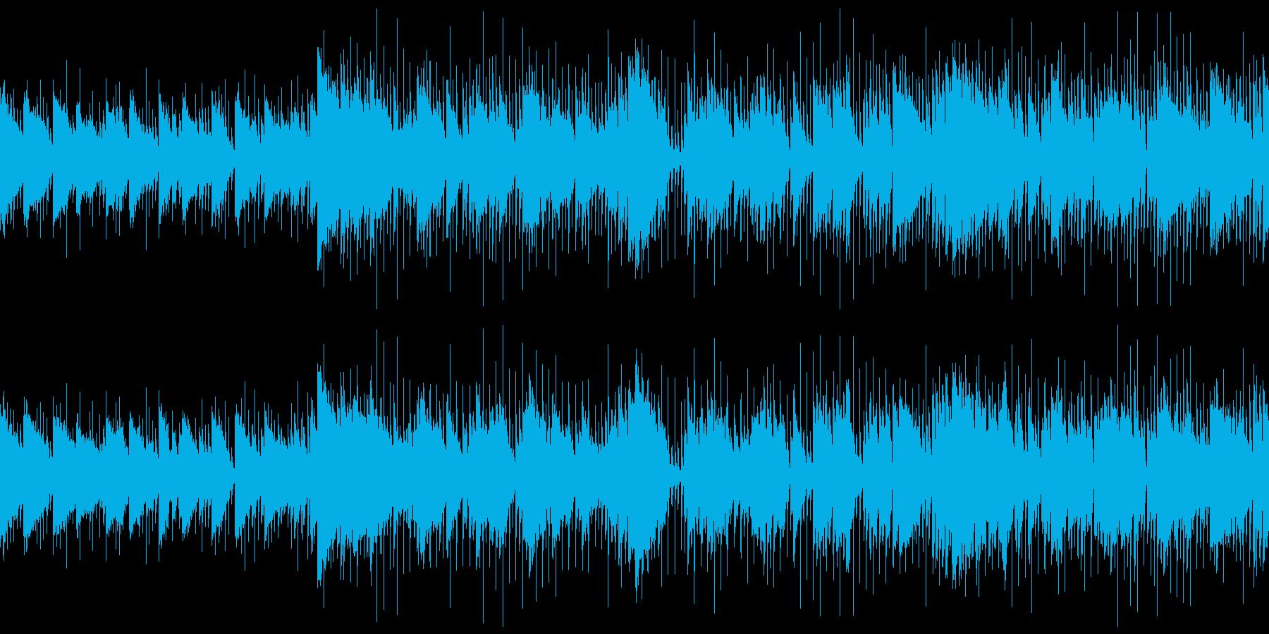 リラックスできる映像・おしゃれなジャズの再生済みの波形