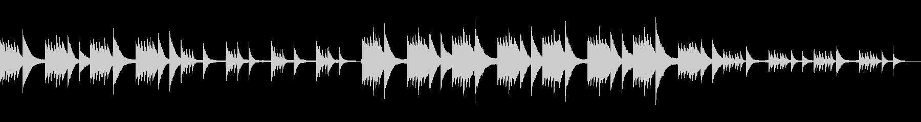 ゆったり切ないピアノ曲の未再生の波形