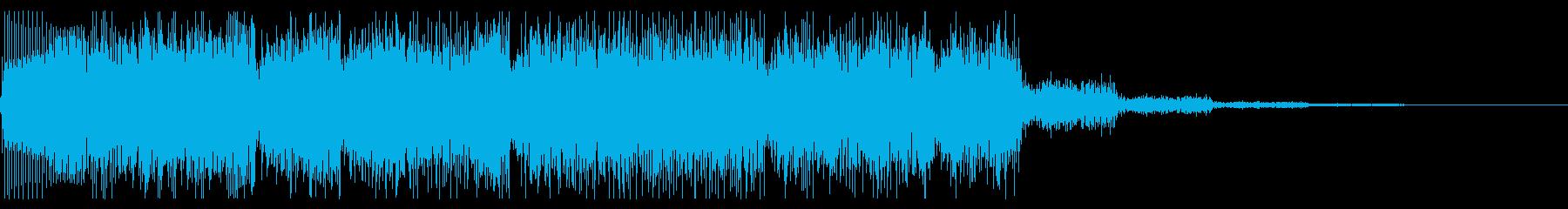 レトロゲーム風 サイバーなジングルの再生済みの波形