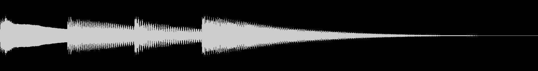 アナウンスのチャイム。ピンポンパンポーンの未再生の波形