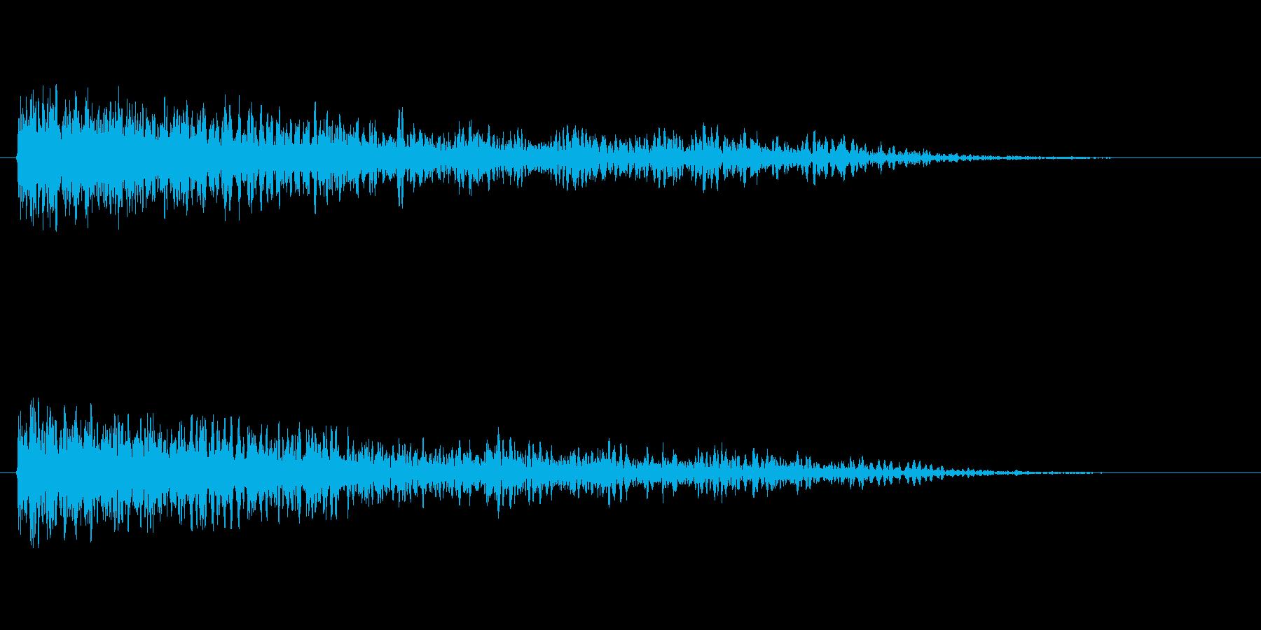 「ガーン(アクセント音)」の再生済みの波形