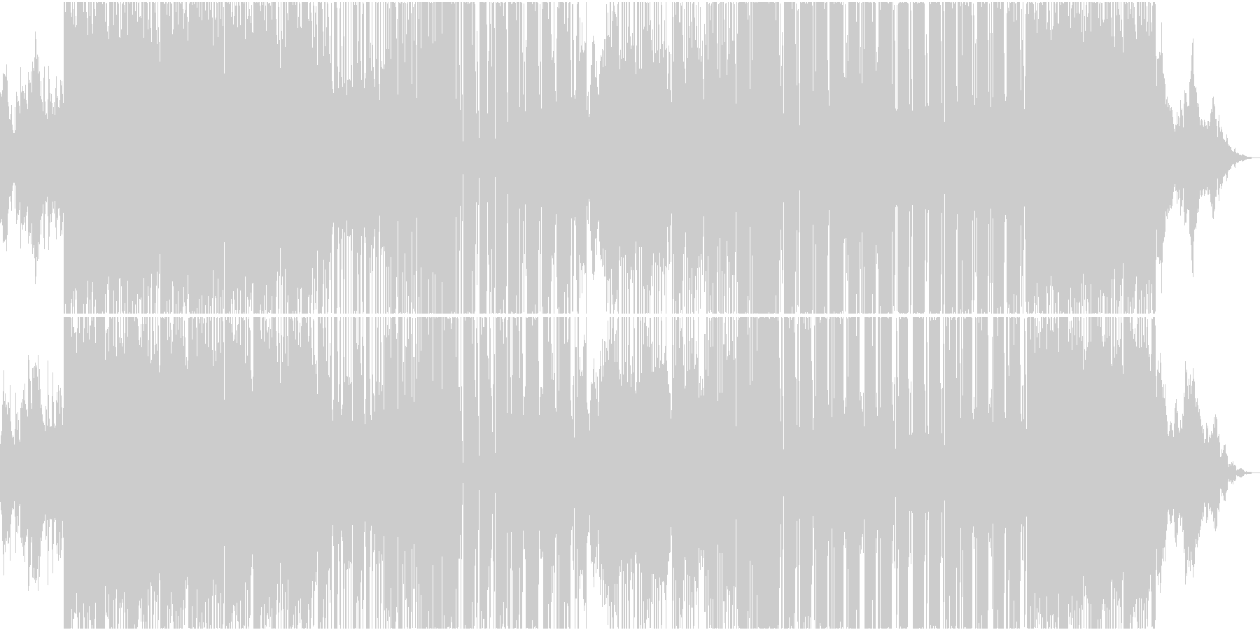 不規則で不思議なHybrid Trapの未再生の波形