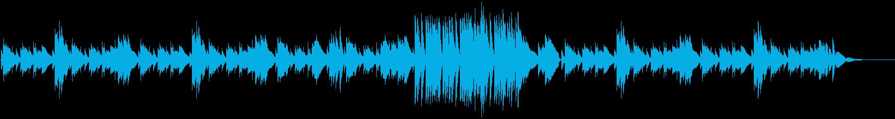 落ち着いた雰囲気のピアノ小曲の再生済みの波形