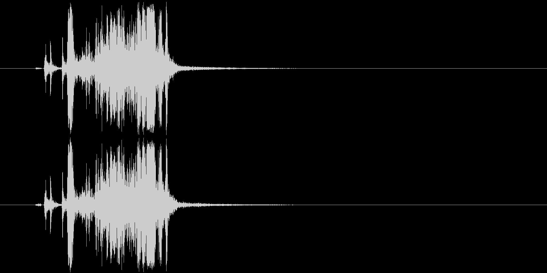 シャッター音「カシャ!」の未再生の波形