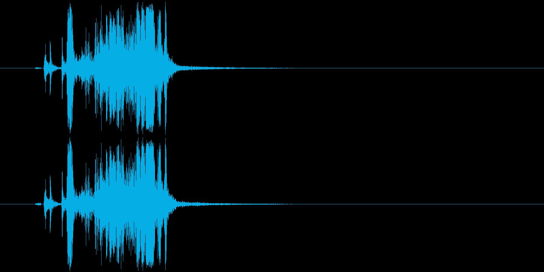 シャッター音「カシャ!」の再生済みの波形