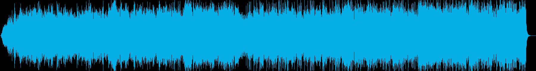 清々しいミディアムテンポのポップスの再生済みの波形
