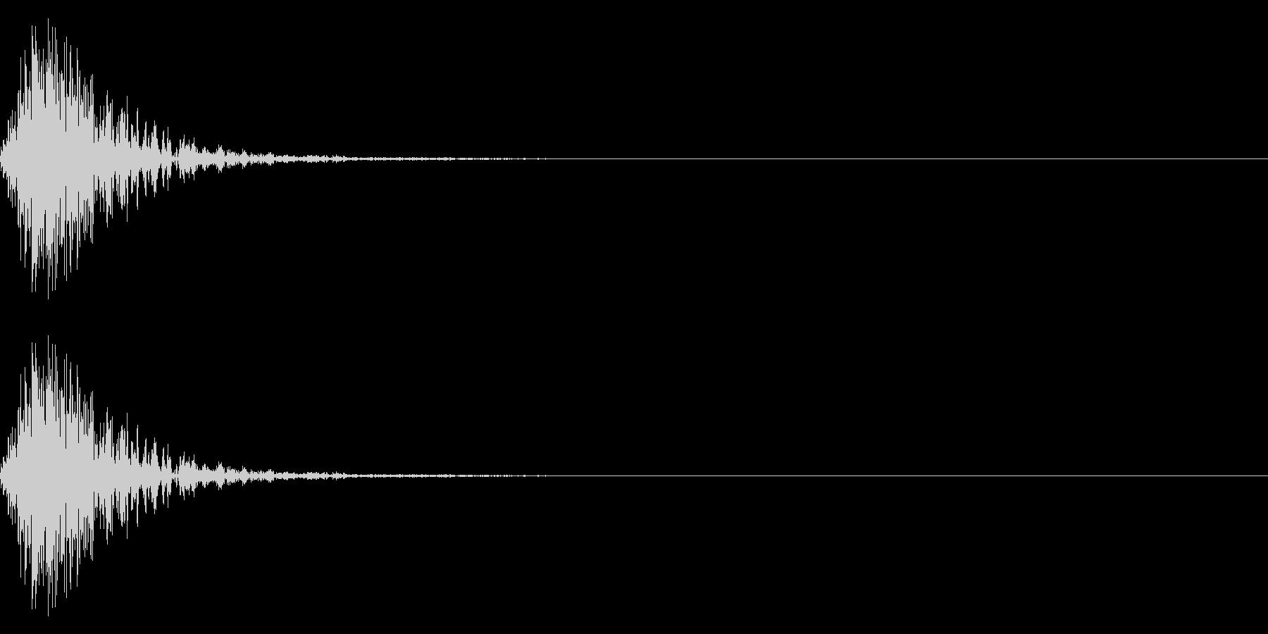 矢を放つイメージ(電子音)の未再生の波形