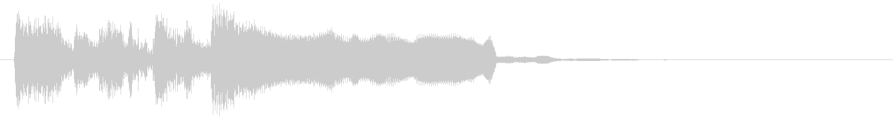レベルアップジングル、リコーダー&ブラスの未再生の波形