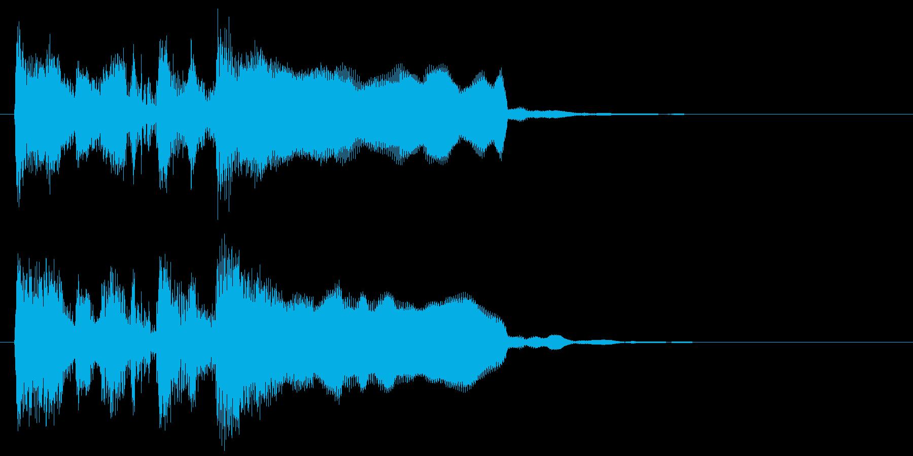 レベルアップジングル、リコーダー&ブラスの再生済みの波形