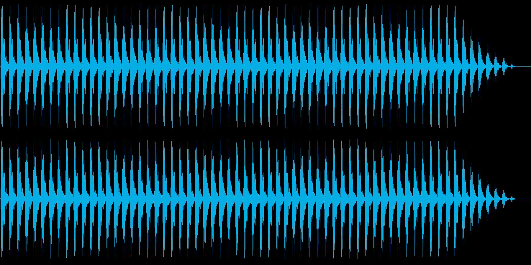 クリスマスの鈴(低め、テンポ遅い)の再生済みの波形