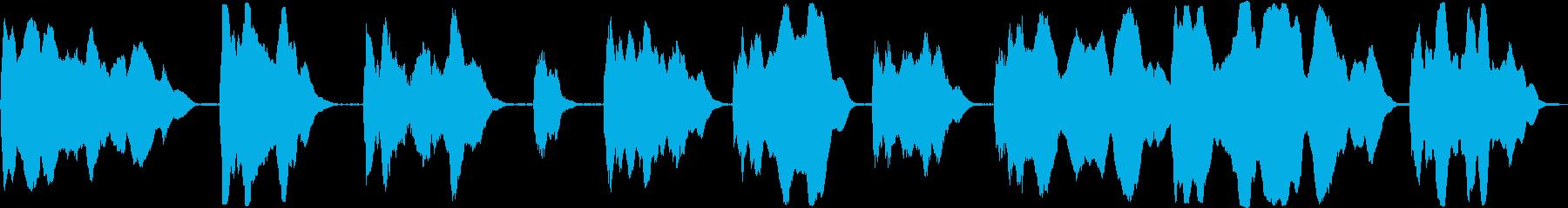 合成スタートアップスウェルの再生済みの波形