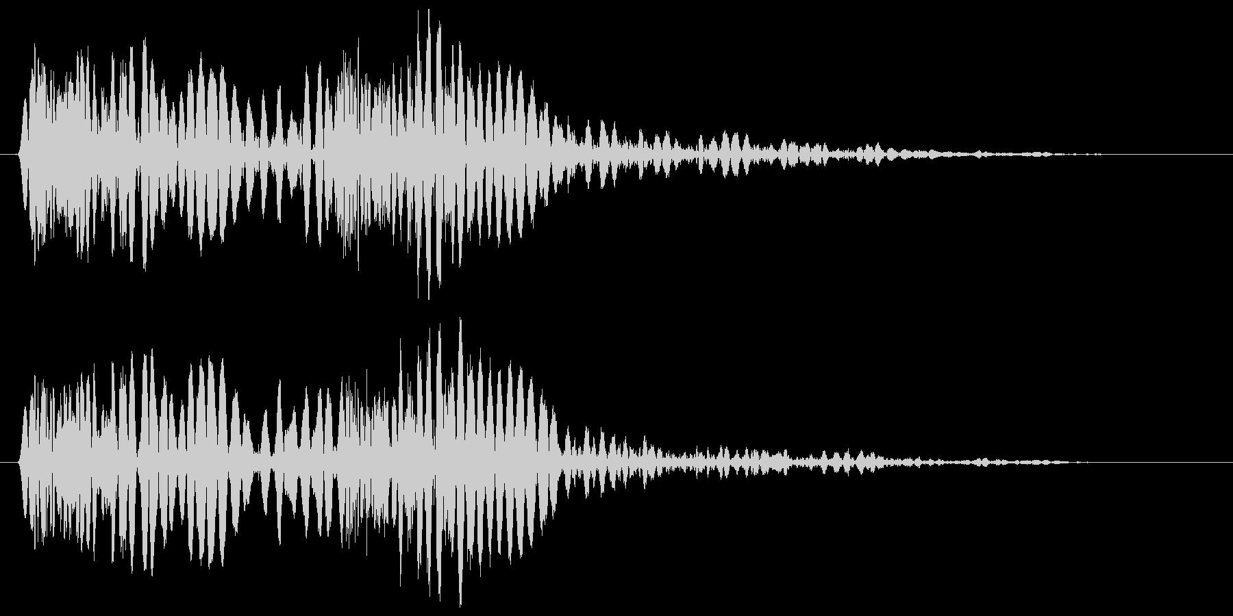 ザッダン(床の上で踏み出しすぐに停止)の未再生の波形