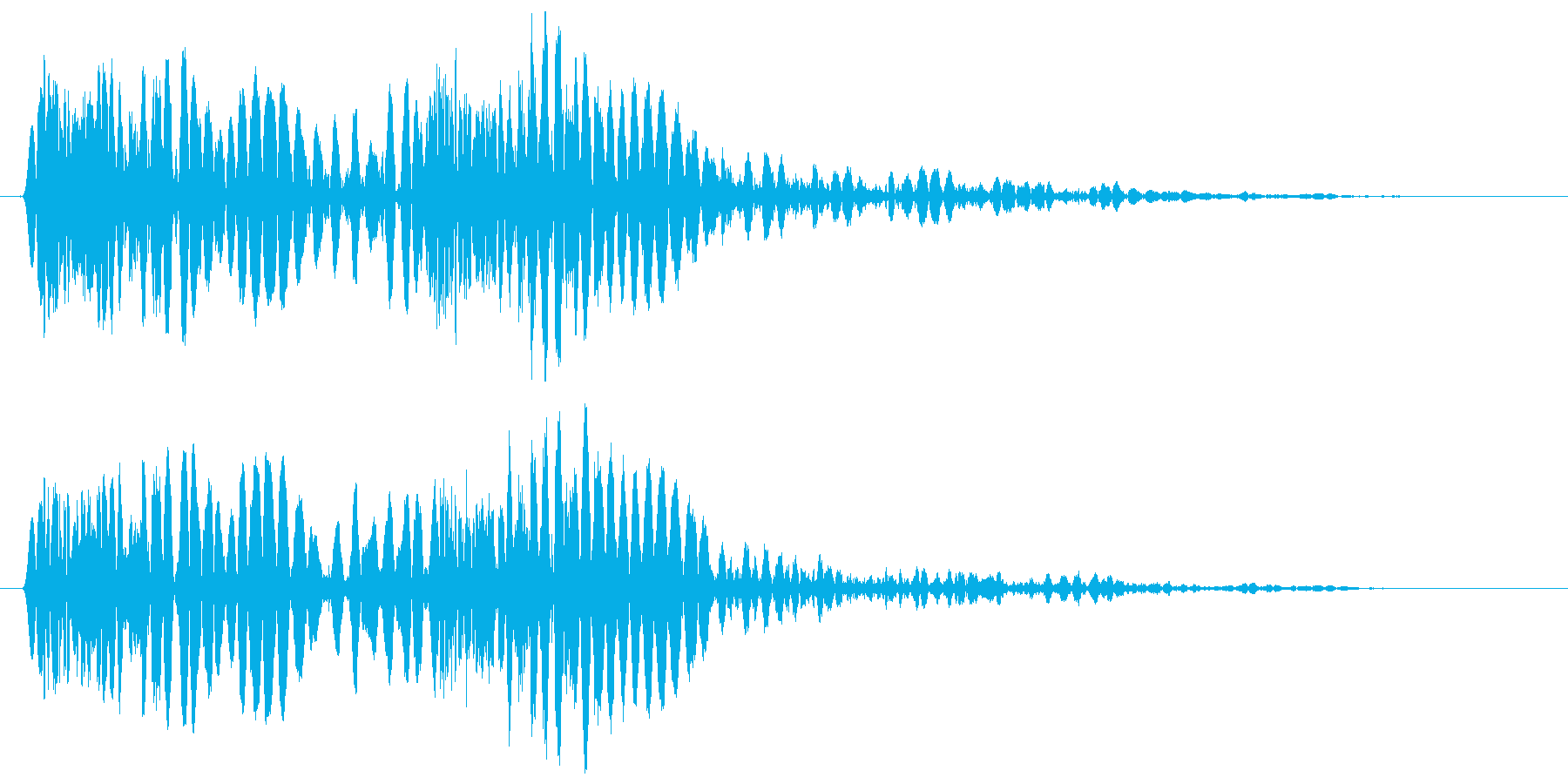 ザッダン(床の上で踏み出しすぐに停止)の再生済みの波形