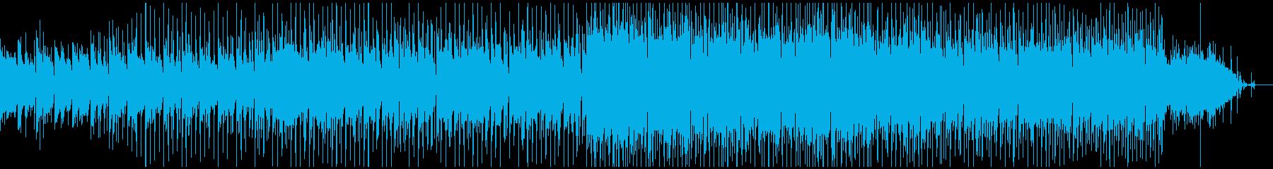 情熱的なバトルBGM風の四つ打ちテクノの再生済みの波形
