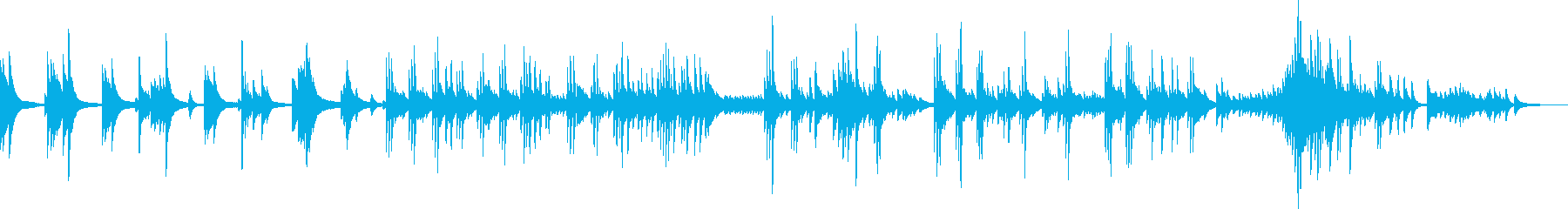 悲しみのピアノ曲(絶望・静寂・BGM)の再生済みの波形