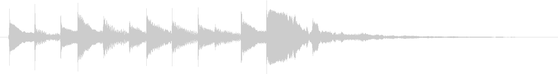 幻想的なチル系ベルのジングルの未再生の波形