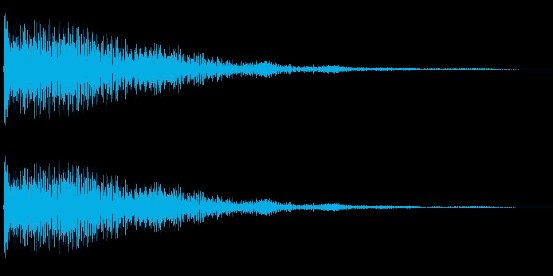 ゴ〜ン(鐘の鳴る音)の再生済みの波形