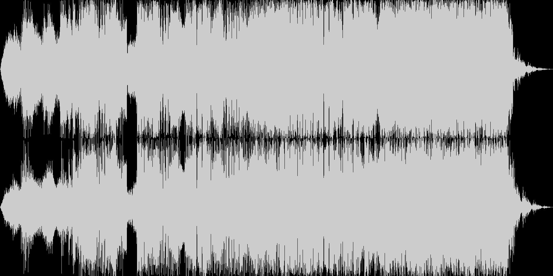 エレクトロニック 説明的 静か 気...の未再生の波形
