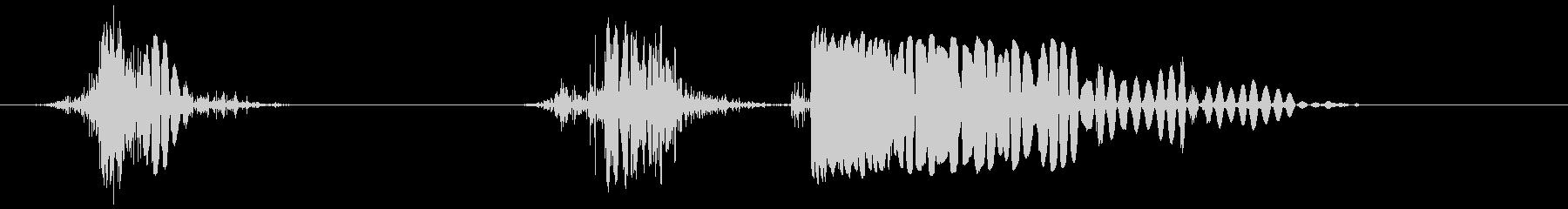 ホイップアンドハードアックスチョップ2の未再生の波形
