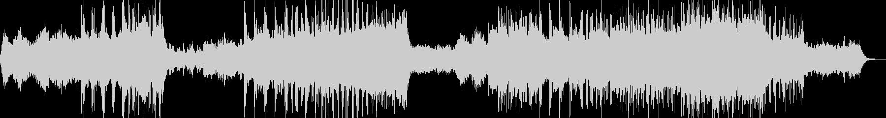 森の洋館・ミステリアスな雰囲気・ドラム有の未再生の波形