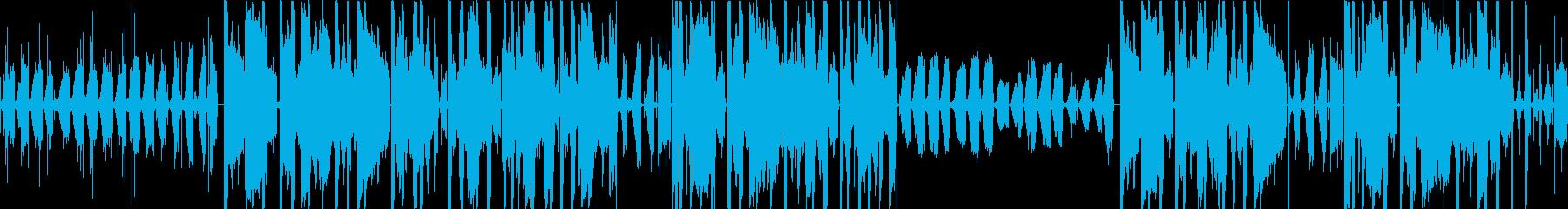 深夜のLo-Fiビートの再生済みの波形