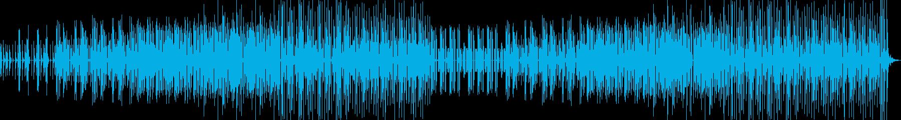 かわいくて面白い音が沢山入ったポップな曲の再生済みの波形